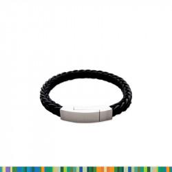 Bracelet Tressé cuir et corde