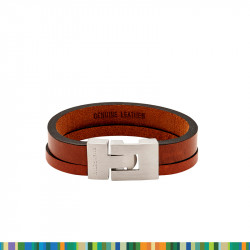 Bracelet Cuir Fauve