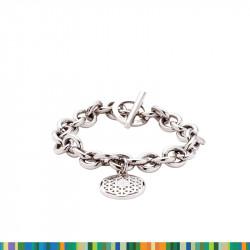 "Bracelet Acier ""Fleur de Vie"""