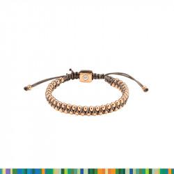 Bracelet Billes et Textile